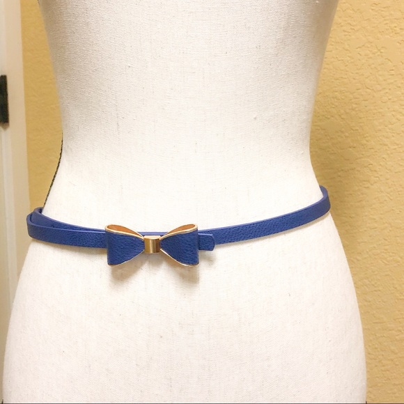 fd67bcc3e9c9 Accessories | Bogo Sale Thin Blue Bow Tie Belt | Poshmark